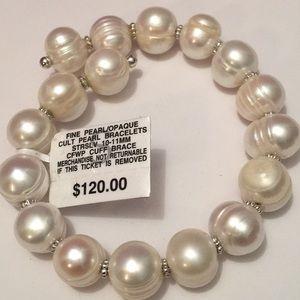 Fine Culture Pearl Bracelet Steeling Silver